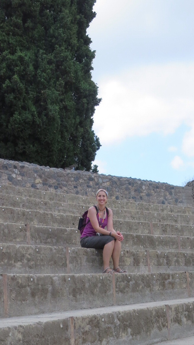 Sitting in the amphitheater