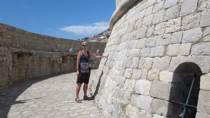 Me outside the House of the Undying.  (And scowling, probably because it was deathly hot).