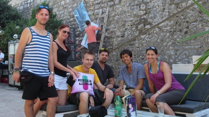 The hostel crew.