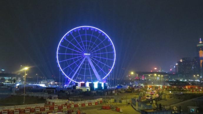 The area around the wheel is still under construction