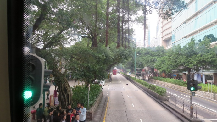 Heading north on Nathan Rd. in Kowloon