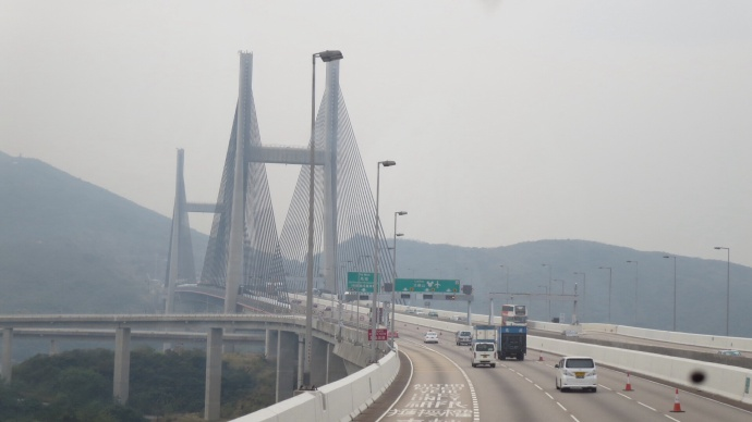 The bridge to Lantau.  (I got a little camera-happy on this bus).