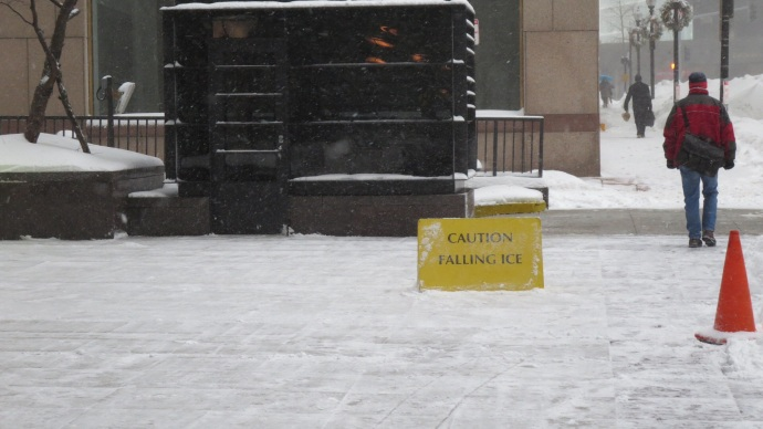 CYA signs all over downtown