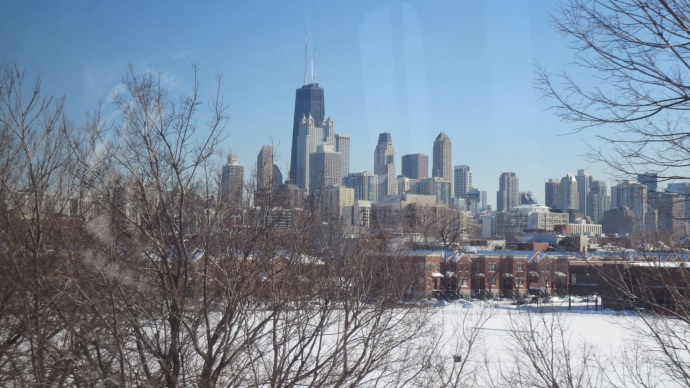View of downtown from the Brown Line