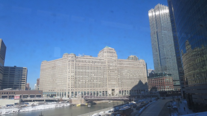 Merchandise Mart, which was once the largest building (area-wise) in the world.  It has its own zip code.