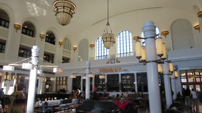 Inside the station/Crawford Hotel.  Drool.